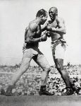 James Jeffries during his fight with Jack Johnson
