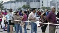 Hundreds of people lined up for free medical care in Houston on Saturday morning.