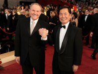 Actor George Takei, right, and Brad Altman arrive for the 81st Academy Awards in the Hollywood section of Los Angeles. (AP Photo/Chris Pizzello, file)