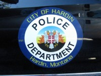 The logo on a Mercedes SUV brought to Hardin by APF