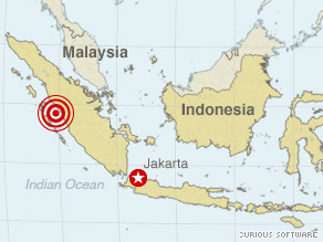 Wednesday's earthquake was centered in Indonesia's West Sumatra province.