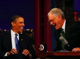 President Obama and Dave Letterman