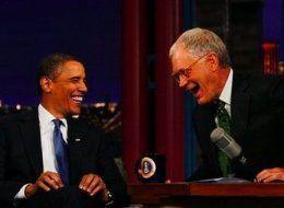 President Obama and Dave Letterman