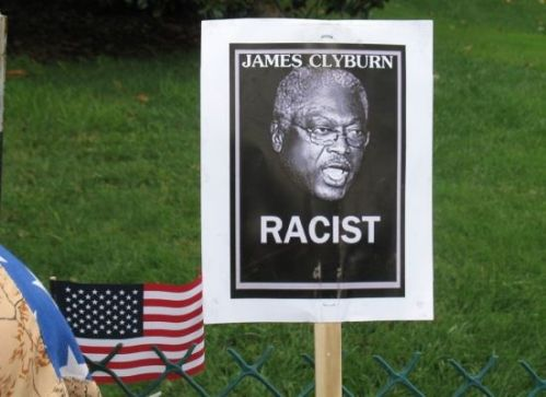 Sign referencing Rep. James Clyburn (D-SC), a leader of the 1960s civil rights movement.
