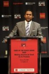 Tavis Smiley @ State Of The Black Union.  Check out the logos behind Tavis.