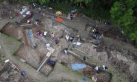 Aerial view of the site of a 'second Stonehenge'  (Photo: Aerial-Cam/Stonehenge Riverside Project)