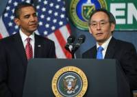 Energy Secretary Steven Chu with President Obama