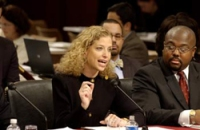 Rep. Wasserman Schultz testifies during the nomination hearings for Judge Alito in January 2006.