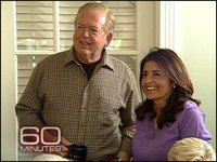 Lou Dobbs and his wife Debi, in the kitchen of their New Jersey farmhouse.