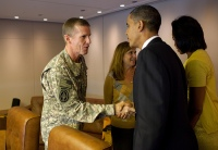 Mtg on Air Force One with Gen. McChrystal