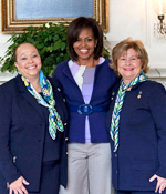 Connie L. Lindsey, Michelle Obama, Kathy Cloninger