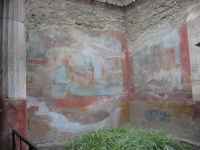 Ancient wall painting in Pompeii (Photo by Audiegrl)