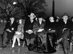 Christmas Tree Lighting Ceremony on the south lawn of the White House in 1947