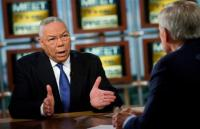 Colin Powell and Tom Brokaw on Meet the Press 10/19/08