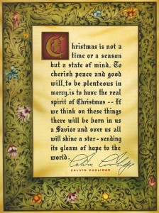 The Coolidges - 1927 signed  Christmas message