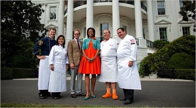 First Lady Michelle Obama, Comerford, Brown, Batali and Lagasse
