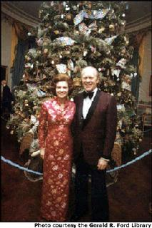 President Gerald Ford and First Lady Betty's 1974 Blue Room tree.