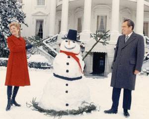 President Richard Nixon and First Lady Pat with Frosty