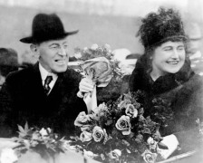 President Wilson and second wife Edith Galt, whom he married around Christmas of 1915