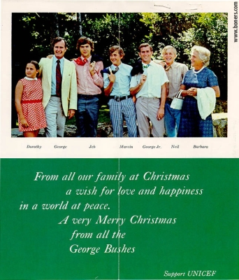 A Christmas Card From All The George Bushes Asking To