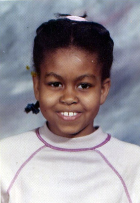 First Lady Michelle Obama from her grade school years