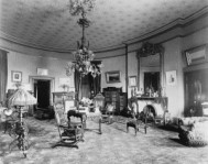 The Oval Room, where the Harrisons formally erected the first White House Christmas tree