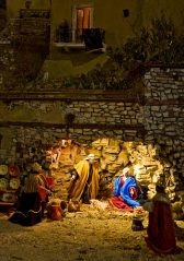 Nativity Scene in Siena Italy