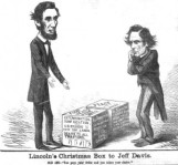 Thomas Nast's illustration, Lincoln's Christmas Box to Jeff Davis, depicting the choices the South had as the Civil War came to an end