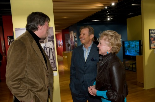 Stephen Fry, Michael York and Pat York attend the opening of the exhibition Star Quality: The World of Noel Coward presented by The Academy of Motion Pictures Arts and Sciences at the Academys Fourth Floor Gallery in Beverly Hills on Friday, January 22, 2010