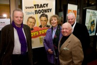 Mike Kaplan, Jan Rooney, Mickey Rooney and Malcolm McDowell
