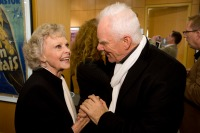 June Lockhart and Malcolm McDowell
