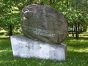 Monument to the last aurochs in Jaktorów, Poland.