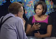 First Lady Michelle Obama appears on Larry King LIVE 02 2010