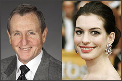 Tom Sherak and Anne Hathaway