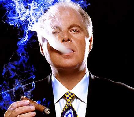Rush Limbaugh blowing smoke...