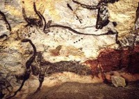 Aurochs on a cave painting in Lascaux, France.