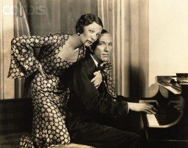 Noel Coward and stage partner Gertrude Lawrence 1936