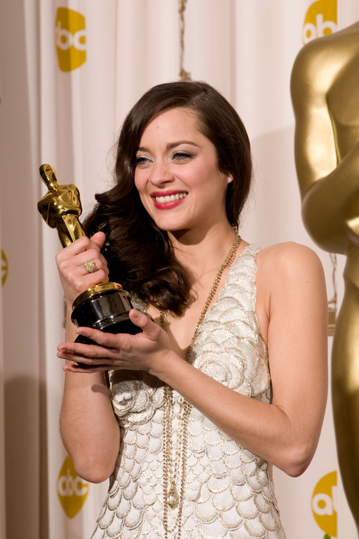 best actress marion cotillard backstage during the 80th annual academy ...