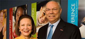 General Colin Powell and his wife, Alma Powell