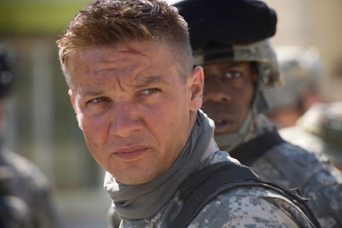 Jeremy Renner as Staff Sergeant William James in The Hurt Locker