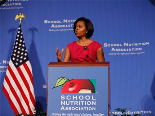 First Lady Michelle Obama speaks to SNA