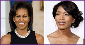 First Lady Michelle Obama and Angela Bassett