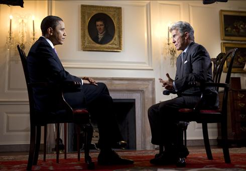 President Barack Obama with John Walsh